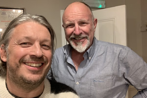 RHLSTP with Richard Herring. Image shows from L to R: Richard Herring, Simon Evans.