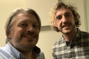 RHLSTP with Richard Herring. Image shows from L to R: Richard Herring, Seann Walsh.