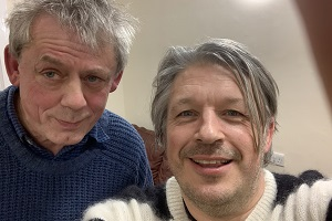Image shows from L to R: Graham Fellows, Richard Herring.