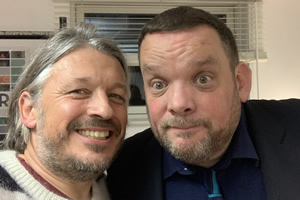 RHLSTP with Richard Herring. Image shows from L to R: Richard Herring, Mark Olver.
