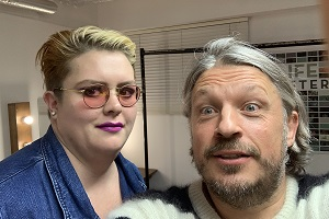 RHLSTP with Richard Herring. Image shows from L to R: Jayde Adams, Richard Herring.