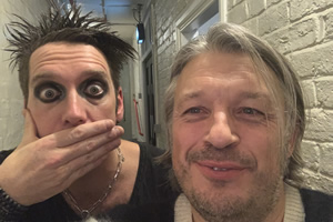 RHLSTP with Richard Herring. Image shows from L to R: Sam Wills, Richard Herring.