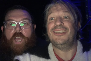 RHLSTP with Richard Herring. Image shows from L to R: Nick Frost, Richard Herring.