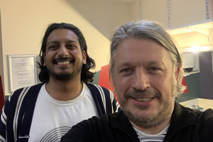 RHLSTP with Richard Herring. Image shows from L to R: Ahir Shah, Richard Herring.