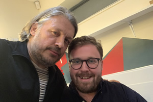 RHLSTP with Richard Herring. Image shows from L to R: Richard Herring, John Kearns.