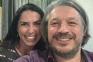 Image shows from L to R: Francesca Stavrakopoulou, Richard Herring.