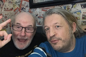 RHLSTP with Richard Herring. Image shows from L to R: Dave Johns, Richard Herring.
