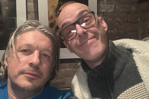 RHLSTP with Richard Herring. Image shows from L to R: Richard Herring, Seymour Mace.