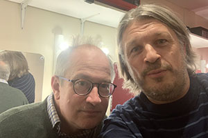 RHLSTP with Richard Herring. Image shows from L to R: Robin Ince, Richard Herring.