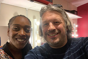 RHLSTP with Richard Herring. Image shows from L to R: Athena Kugblenu, Richard Herring.