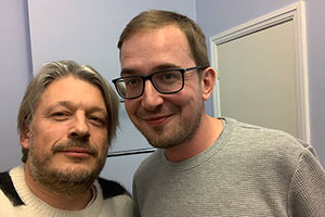 RHLSTP with Richard Herring. Image shows from L to R: Richard Herring, David Reed.