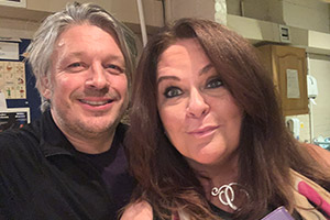 RHLSTP with Richard Herring. Image shows from L to R: Richard Herring, Kate Robbins.