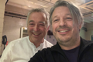 RHLSTP with Richard Herring. Image shows from L to R: Frank Cottrell-Boyce, Richard Herring.