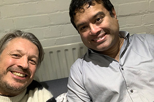 RHLSTP with Richard Herring. Image shows from L to R: Richard Herring, Paul Sinha.