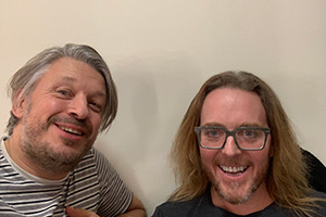 RHLSTP with Richard Herring. Image shows from L to R: Richard Herring, Tim Minchin.