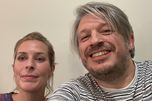 RHLSTP with Richard Herring. Image shows from L to R: Sara Pascoe, Richard Herring.