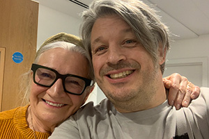 RHLSTP with Richard Herring. Image shows from L to R: Janice Connolly, Richard Herring.