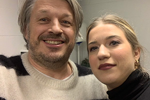 RHLSTP with Richard Herring. Image shows from L to R: Richard Herring, Olga Koch.