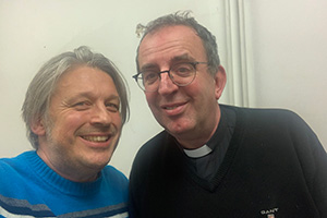 RHLSTP with Richard Herring. Image shows from L to R: Richard Herring, Richard Coles.