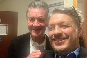 RHLSTP with Richard Herring. Image shows from L to R: Michael Palin, Richard Herring.