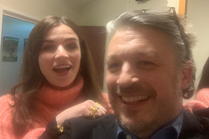 RHLSTP with Richard Herring. Image shows from L to R: Aisling Bea, Richard Herring.