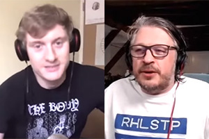 RHLSTP with Richard Herring. Image shows from L to R: James Acaster, Richard Herring.