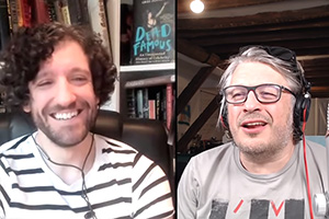 RHLSTP with Richard Herring. Image shows from L to R: Greg Jenner, Richard Herring.