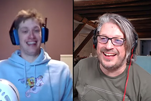 RHLSTP with Richard Herring. Image shows from L to R: Daniel Sloss, Richard Herring.