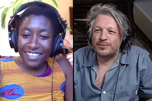 RHLSTP with Richard Herring. Image shows from L to R: Sophie Duker, Richard Herring.