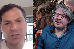 Image shows from L to R: Michael Ian Black, Richard Herring.
