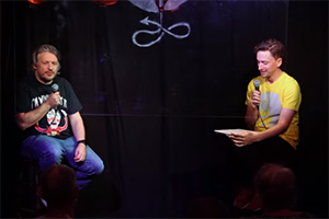 Image shows from L to R: Richard Herring, John Robins.