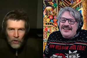 Image shows from L to R: Rhod Gilbert, Richard Herring.