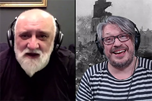 RHLSTP with Richard Herring. Image shows from L to R: Alexei Sayle, Richard Herring.