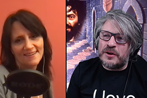 RHLSTP with Richard Herring. Image shows from L to R: Nina Conti, Richard Herring.