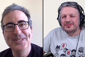 Image shows from L to R: John Oliver, Richard Herring.