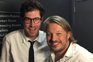 Richard Herring's Leicester Square Theatre Podcast. Image shows from L to R: Dan Schreiber, Richard Herring.
