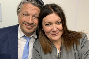 Image shows from L to R: Richard Herring, Fiona Allen.