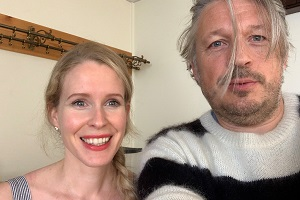 RHLSTP. Image shows from L to R: Lucy Beaumont, Richard Herring.