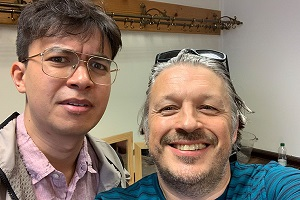 Image shows from L to R: Phil Wang, Richard Herring.