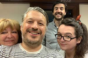 Image shows from L to R: Janey Godley, Richard Herring, Spencer Jones, Ashley Storrie.