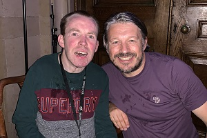Richard Herring's Leicester Square Theatre Podcast. Image shows from L to R: Lee Ridley, Richard Herring.