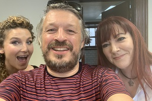 Image shows from L to R: Alice Fraser, Richard Herring, Susan Murray.