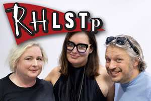 RHLSTP. Image shows from L to R: Siobhán McSweeney, Deborah Frances-White, Richard Herring.