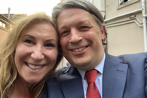 Image shows from L to R: Kay Mellor, Richard Herring.