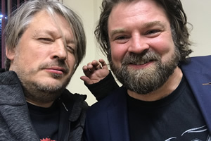 Richard Herring's Leicester Square Theatre Podcast. Image shows from L to R: Richard Herring, Glenn Wool.