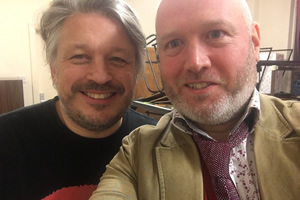 Richard Herring's Leicester Square Theatre Podcast. Image shows from L to R: Richard Herring, Toby Hadoke.