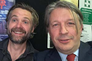 Image shows from L to R: Rob Rouse, Richard Herring.