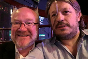 Richard Herring's Leicester Square Theatre Podcast. Image shows from L to R: Dave Taylor, Richard Herring.