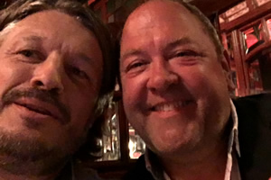 Richard Herring's Leicester Square Theatre Podcast. Image shows from L to R: Richard Herring, Mark Addy.