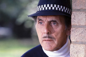 Photograph courtesy of Revelation Films. Inspector Rhubarb (Eric Sykes). Copyright: Thames Television.
